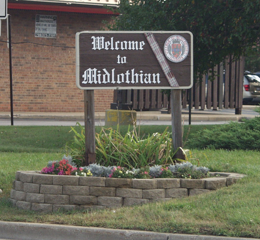 Welcome to Midlothian sign