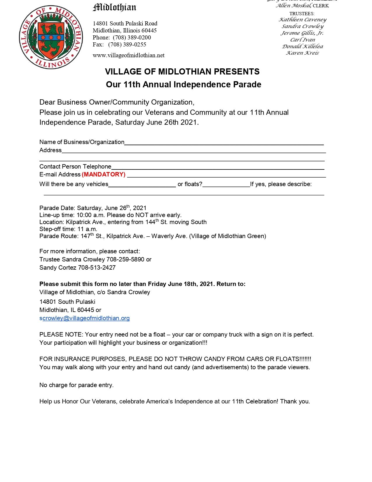 2021 Midlothian Parade Entry Form_page-0001